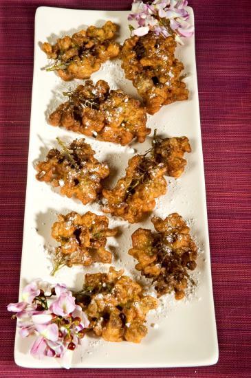 beignets de fleurs de glicéria