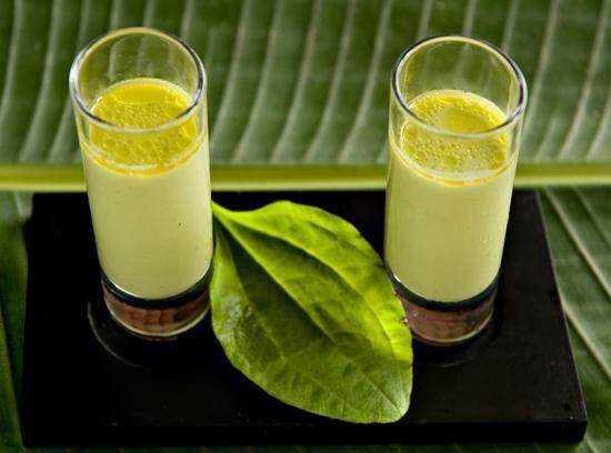 verrine glacée de plantain