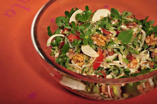 salade fraîcheur au pourpier et chou-coco